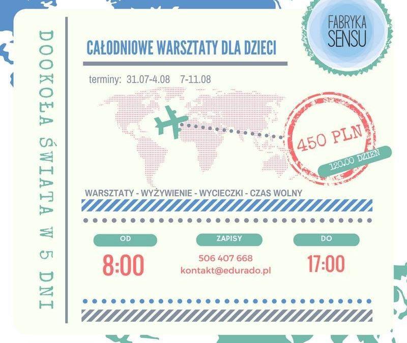 Warsztaty podróżnicze dla Dzieci, zwiedź świat w 7 dni z Fabryką Sensu!